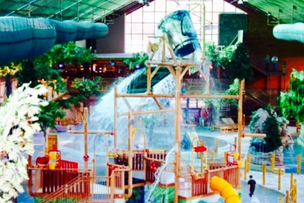 Indoor waterpark includes rides for all ages