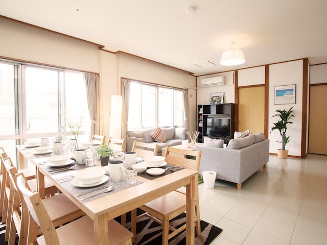 "Private apartment in""Chatan""  1 min to Ocean/13X - Chatan-chō - Flat"