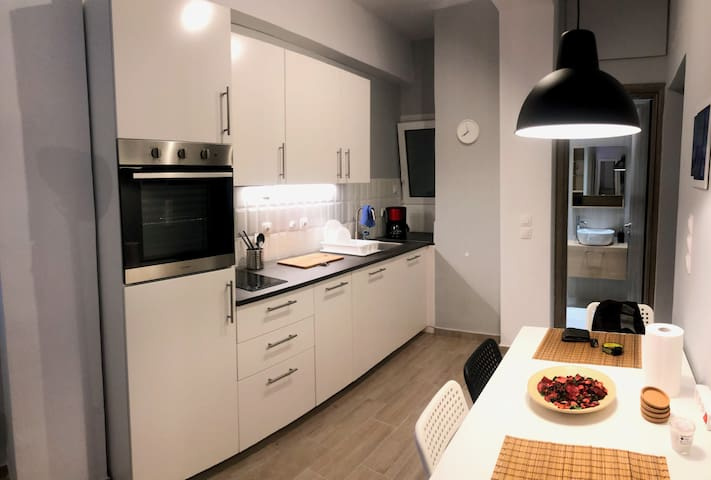 Modern studio apartment with private courtyard
