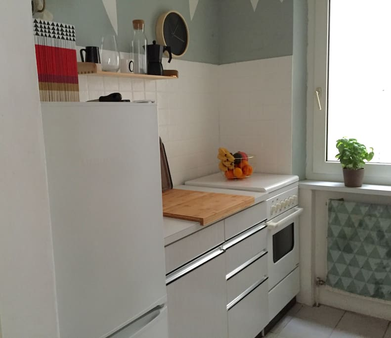 small but well equipped kitchen :)