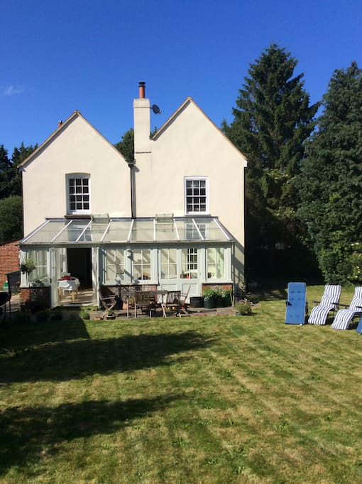 Large rear garden and conservatory