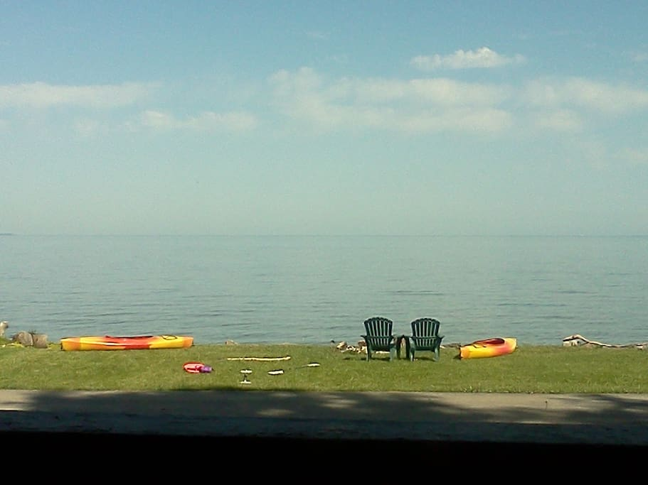 Beautiful lake view from the deck