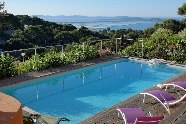 Villa 9 pers vue sur les iles d'or