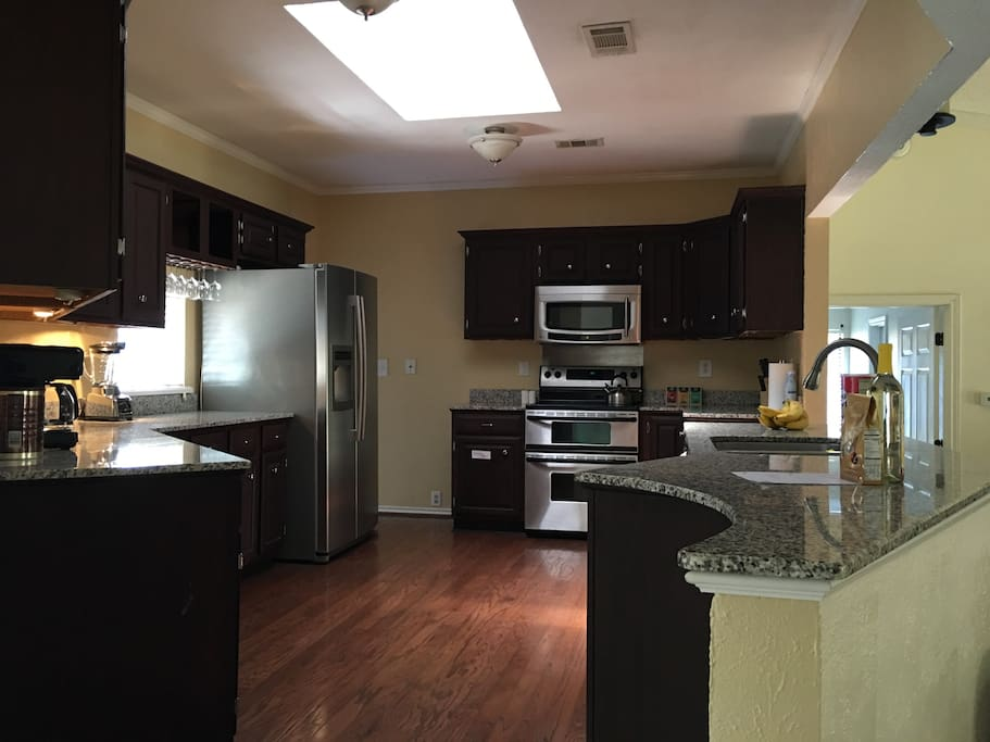 Large kitchen with all necessary appliances. (Coffee maker, blender, toaster etc.)