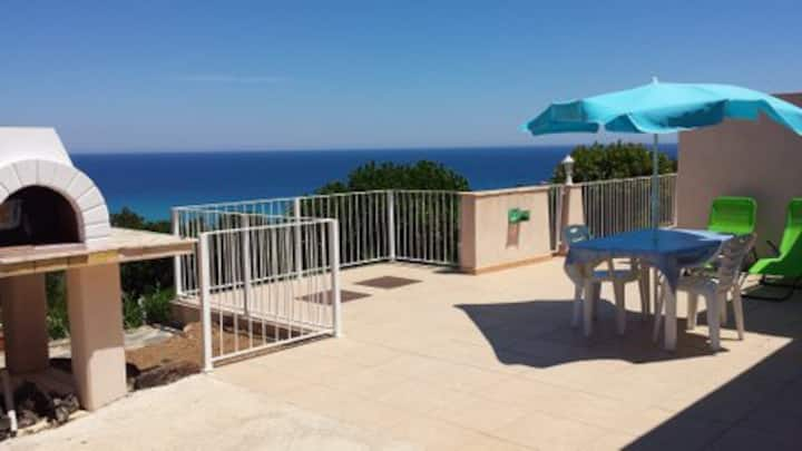 Mini-villa La Baie B vue mer plage de sable 500 m