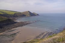The Coastal Path is not too far, for stunning views and picturesque coves.