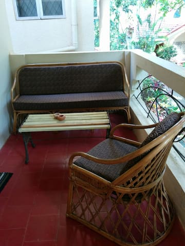 Comfortable seating in the balcony