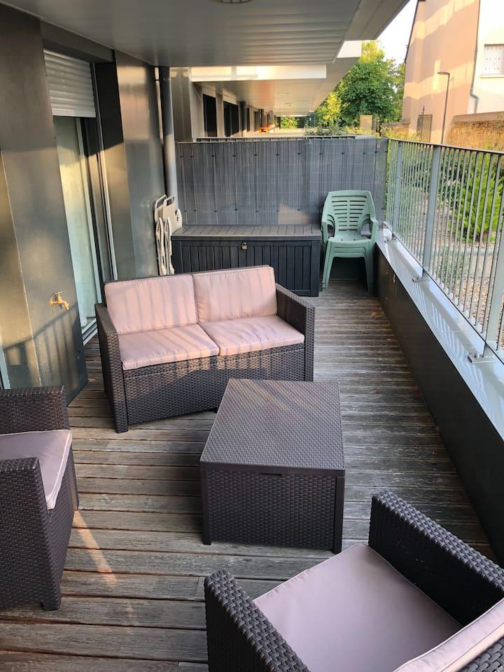 T2 moderne avec terrasse  Rennes Cesson sevigne