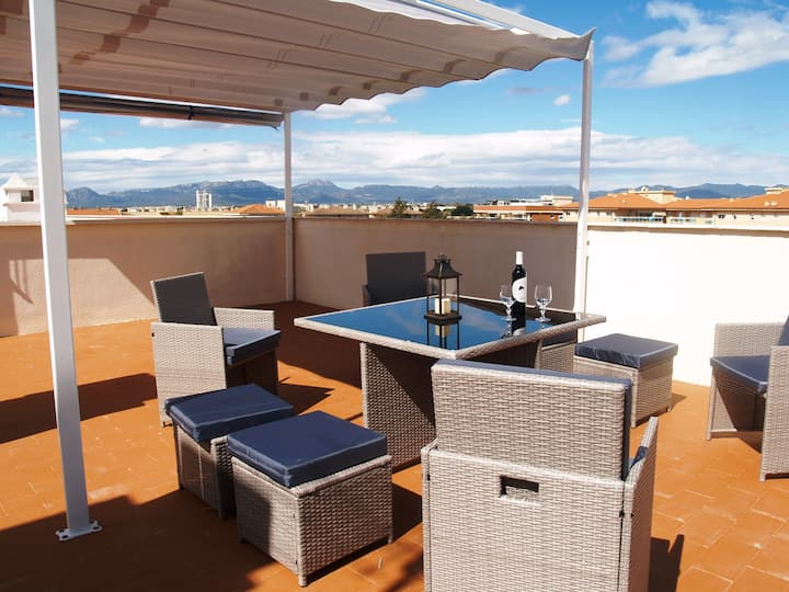 Dream penthouse with BBQ&Pool in Cambrils