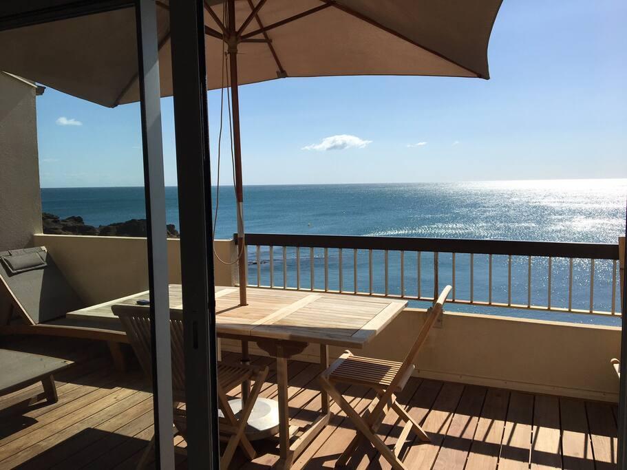 Front mer vue rare grande terrasse r nov wifi for Indipendenza del piano di cabina del mare