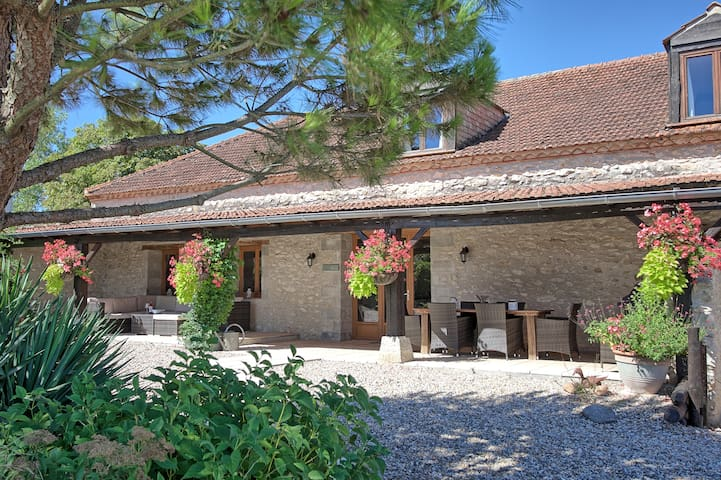 Beautiful 3 bedroom barn conversion - Bourlens - House