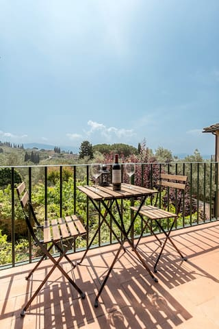 *A terrace with a view* on the hills of Florence - Firenze - Apartment