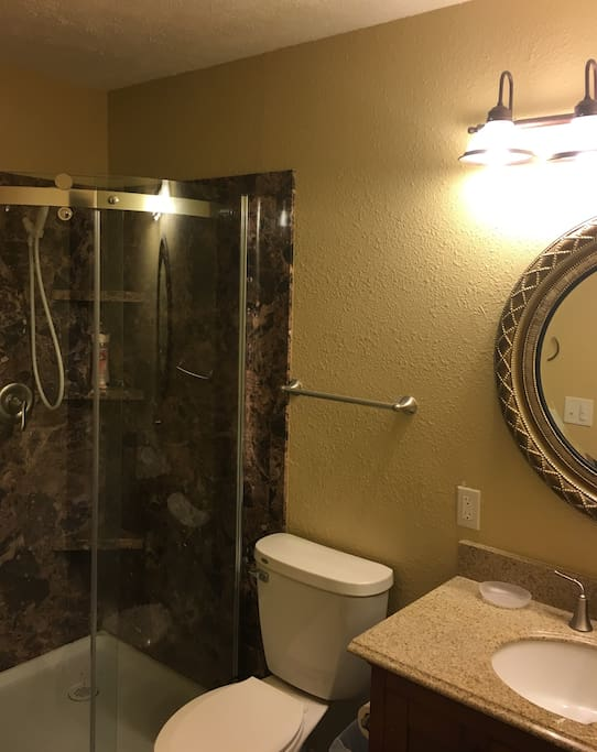 Custom bathroom w/light sensor