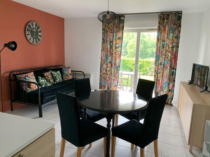 appartement de 40 m2  avec jardin calme