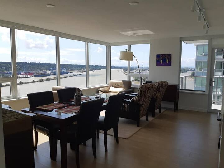 New Riverfront Condo at the New Westminster Quay.