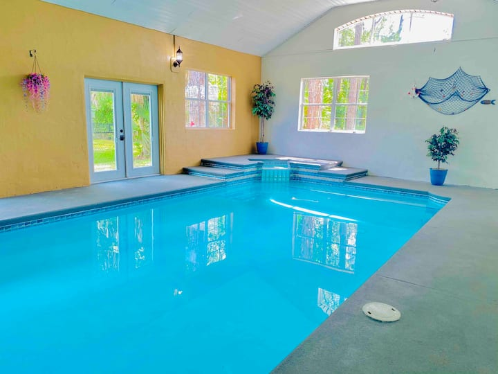 Heated INDOOR POOL, Close to Beach.