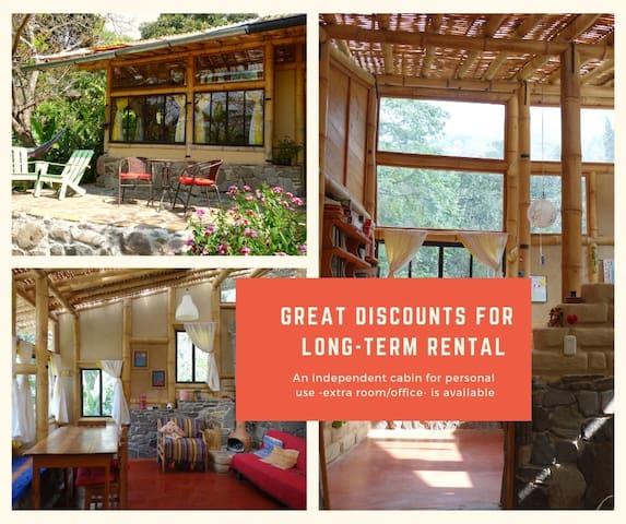 Eco - Casa de Bambú hiper luminosa