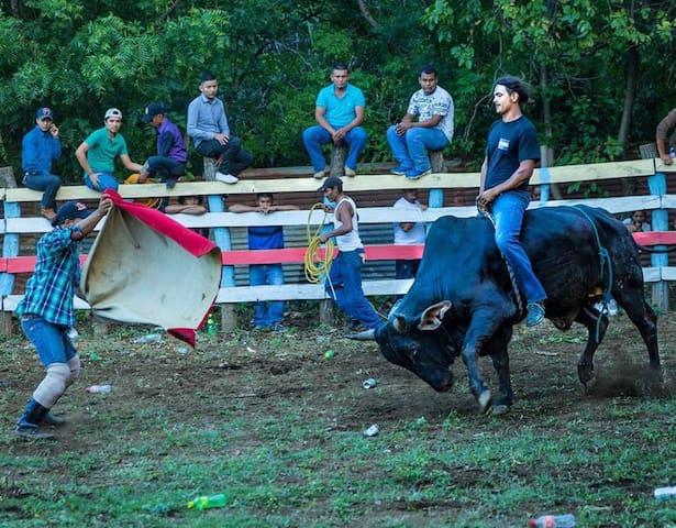 Neighborhood rodeos on Sundays! photo by Jennifer Ciplet Photography