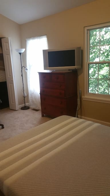 You can also borrow this HDTV pictured here in the master bedroom!