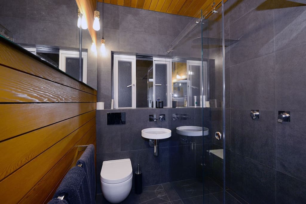 Luxurious double shower