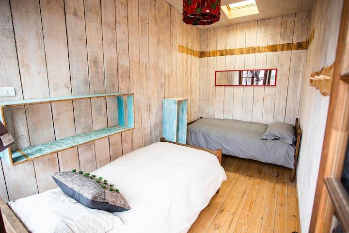 Habitación privada 2 a 3  personas  Hostal Aldea