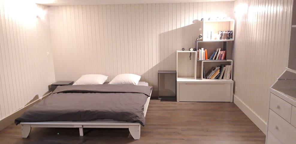 Chambre avec entrée et salle de bain indépendante