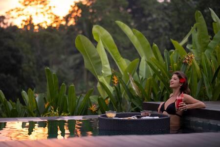 Villa tranquille, vue sur coucher de soleil