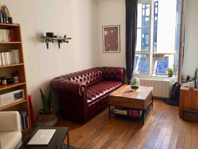 Spacious, charming and cosy Parisian appartment.