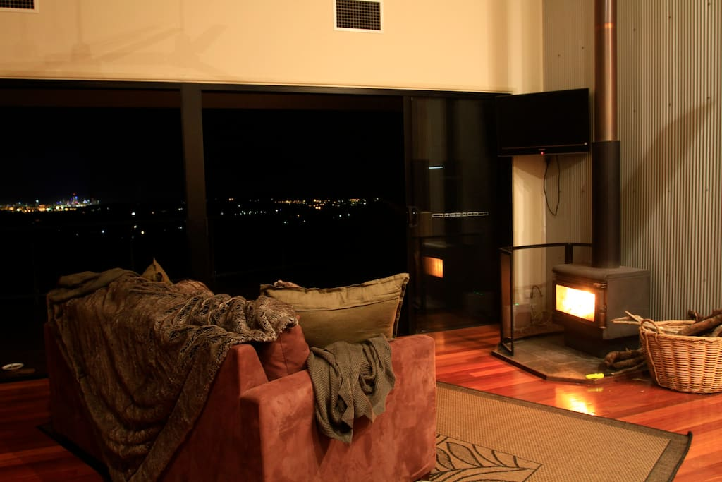 Fire on a winters night