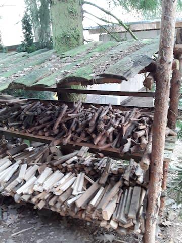 Holz zum Feuern der Kochmaschine