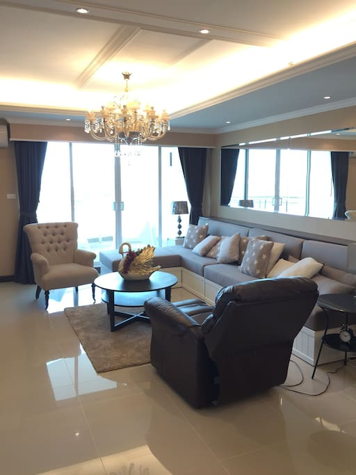 Living Room with Riverview