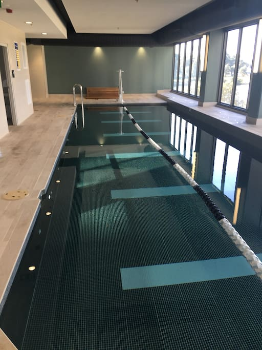 Free indoor swimming pool for guests