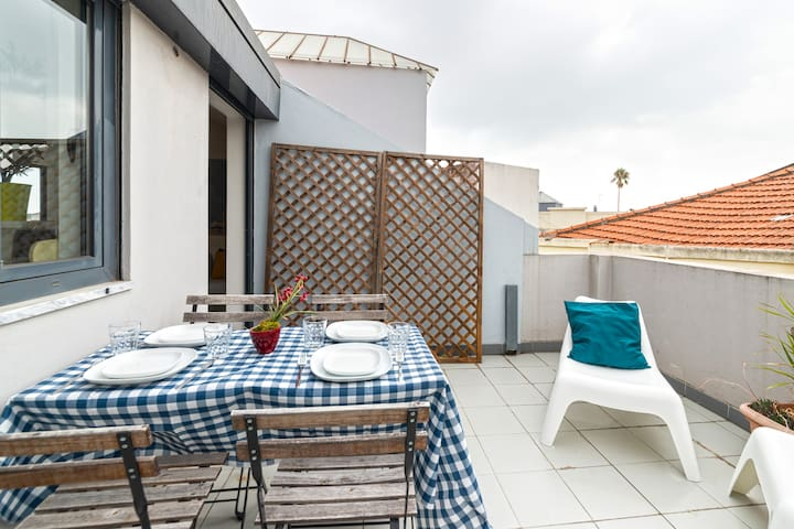 Rooftop apartment with a terrace and view