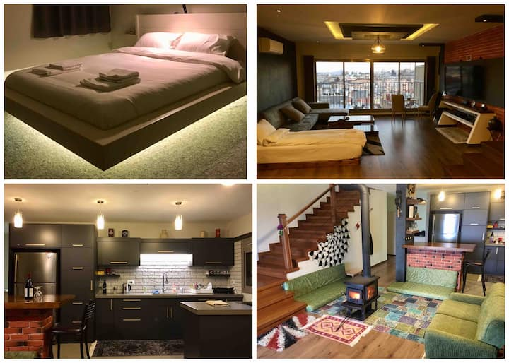 Private Luxury apartment with city and mount view
