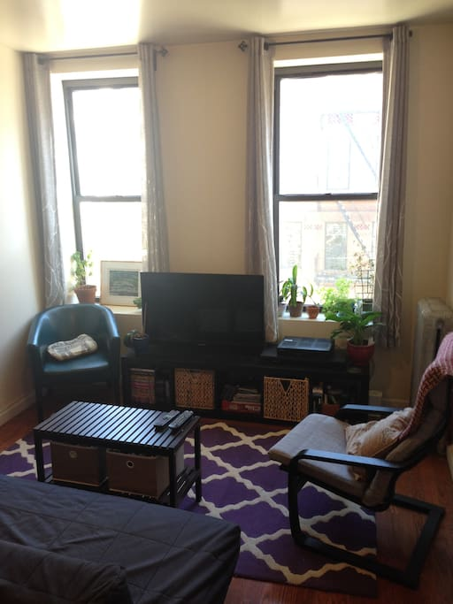 Comfortable living space with access to cable, Netflix & Hulu +