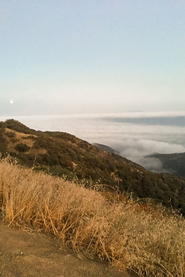 View from the hike (above the clouds!)
