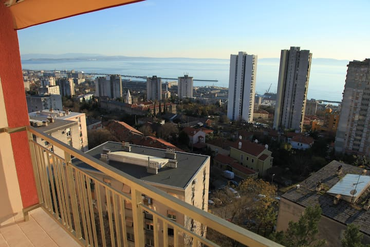 Amazing Kvarner Bay view from Quarner apartment - Rijeka