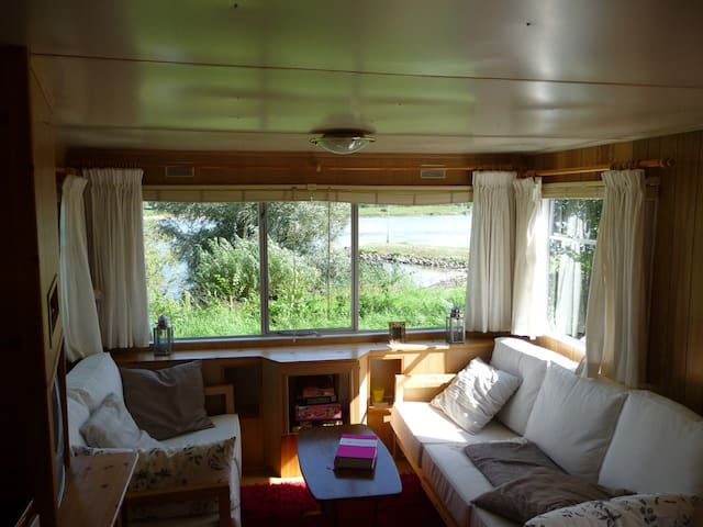 Caravan with a beautiful river view - Wapenveld - Annat