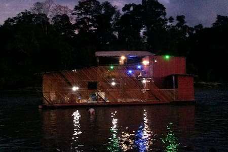 Unique Floating lodge in Ecuador Amazon river