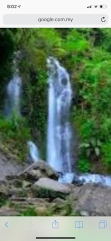 One of the Curug cilember 7 waterfalls, 10 mins walk from villa hakim 4