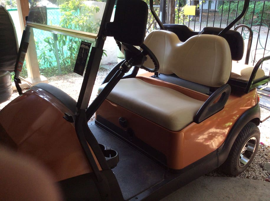 Golf cart available to guests at $35 a day or $160 a week. Normal rate for non guests is $45