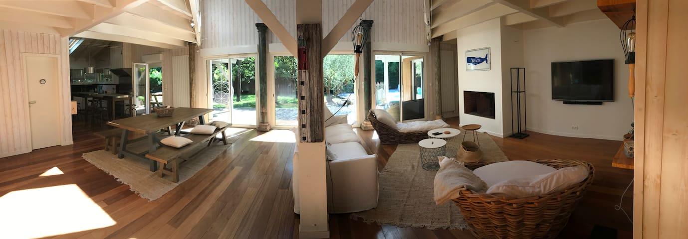 Villa 8 chb au pied de la forêt, à 450 m du Bassin