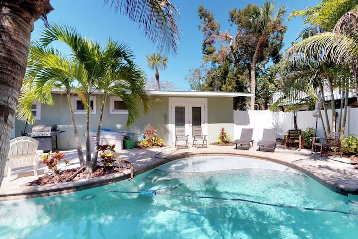 Family-friendly vacation home w/ private, heated pool & furnished patio