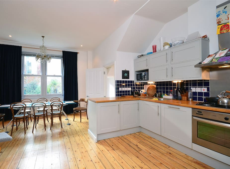 Kitchen for big family dinners
