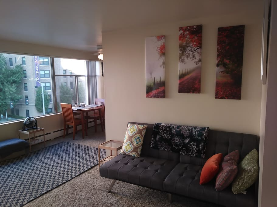 Downtown spacious 1br apartment with a view 501 for Seattle view apartments