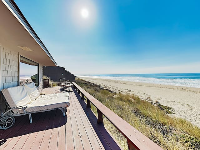 Large Beachfront Home w/ Wraparound Deck