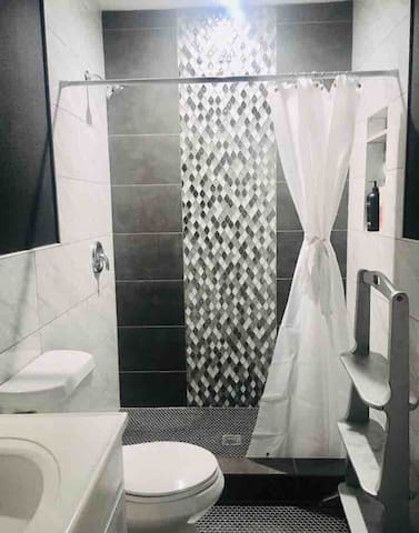 Modern and newly renovated bathroom