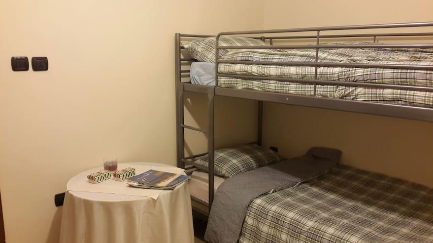 Bedroom n. 4 with bunk bed