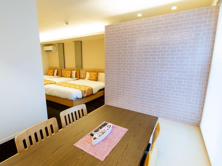 GRAND BASE Hiroshima Ekimae -Atype- Accomodate 4 members, Free WiFi, kitchen