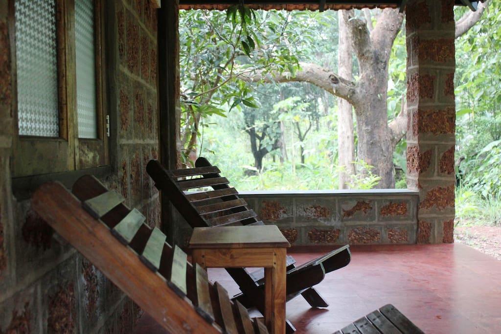 The verandah
